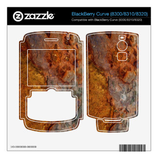 Rusted BlackBerry Curve skin