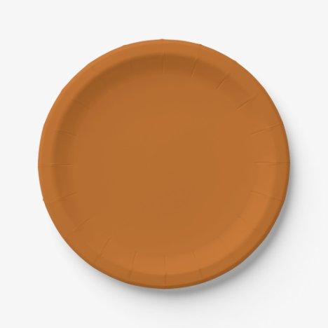 Rusted Burnt Orange Paper Plates