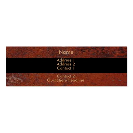 Rusted Business Card