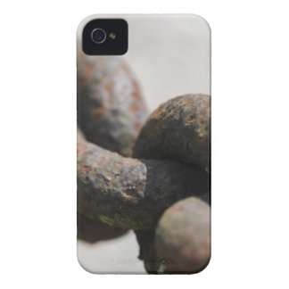 Rusted chain with big links iPhone 4 case