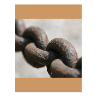Rusted chain with big links postcard