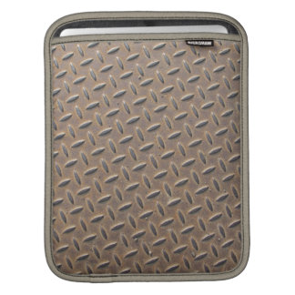 Rusted checker plate made from steel or metal iPad sleeve