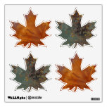 Rusted Copper Maple Leaves Room Graphics