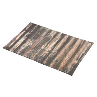 Rusted Corrugated Metal Texture Cloth Placemat