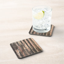 Rusted Corrugated Metal Texture Drink Coaster