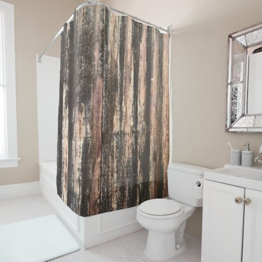 Rusted Corrugated Metal Texture Shower Curtain Zazzle