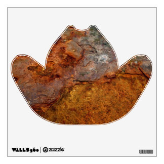 Rusted cowboy hat wall decal