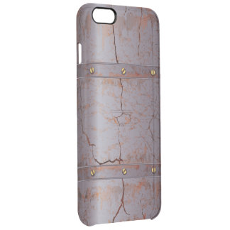 Rusted Cracked Metallic Clear iPhone 6 Plus Case