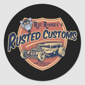 Rusted Customs II Classic Round Sticker