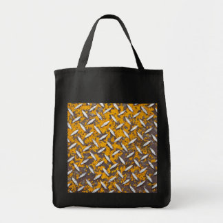 Rusted Diamond Plate Metal Tote Bag