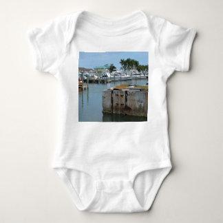 rusted dock ft pierce florida marina baby bodysuit