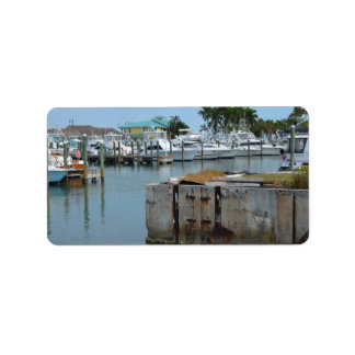 rusted dock ft pierce florida marina label