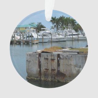 rusted dock ft pierce florida marina ornament