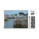 rusted dock ft pierce florida marina postage