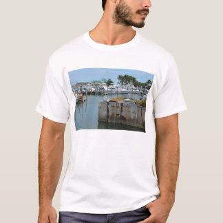 rusted dock ft pierce florida marina T-Shirt