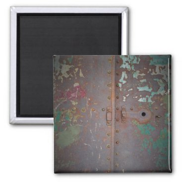 Rusted Doors Square Magnet