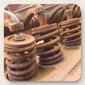 Rusted Engine Parts Manly Automotive Theme Coaster