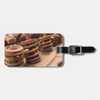 Rusted Engine Parts Manly Automotive Theme Bag Tag