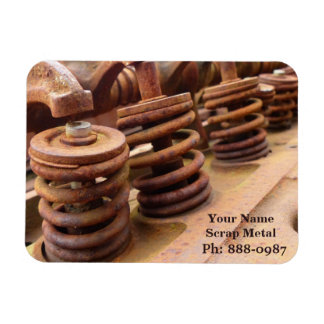 Rusted Engine Parts Manly Automotive Theme Magnet