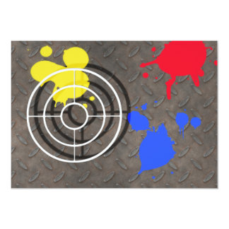 Rusted Grate with Gun Sight 5x7 Paper Invitation Card