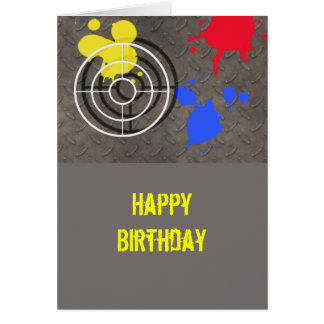 Rusted Grate with Gun Sight Greeting Card