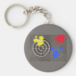 Rusted Grate with Gun Sight Keychains