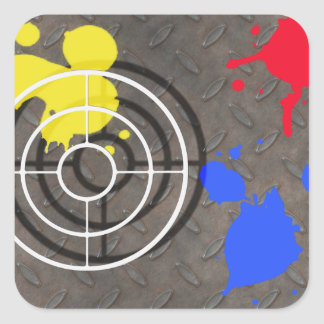 Rusted Grate with Gun Sight Square Sticker