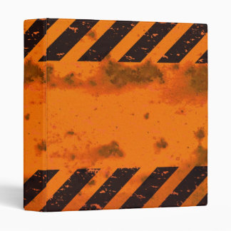 Rusted Hazard Stripes Background 3 Ring Binder