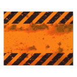 Rusted Hazard Stripes Background 4.25x5.5 Paper Invitation Card