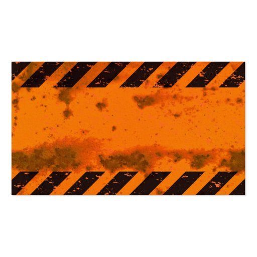Rusted Hazard Stripes Background Business Card