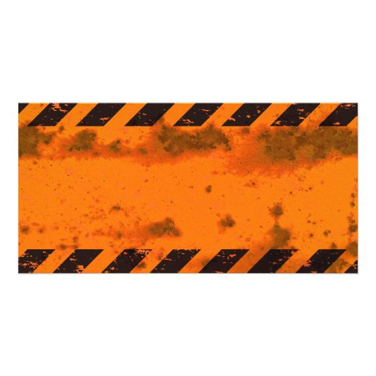 Rusted Hazard Stripes Background Card
