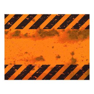 Rusted Hazard Stripes Background Flyer