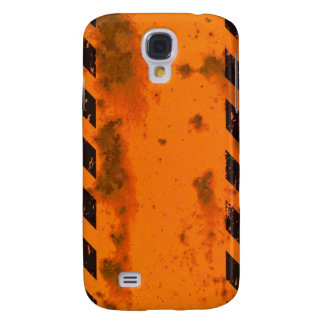 Rusted Hazard Stripes Background Galaxy S4 Cover