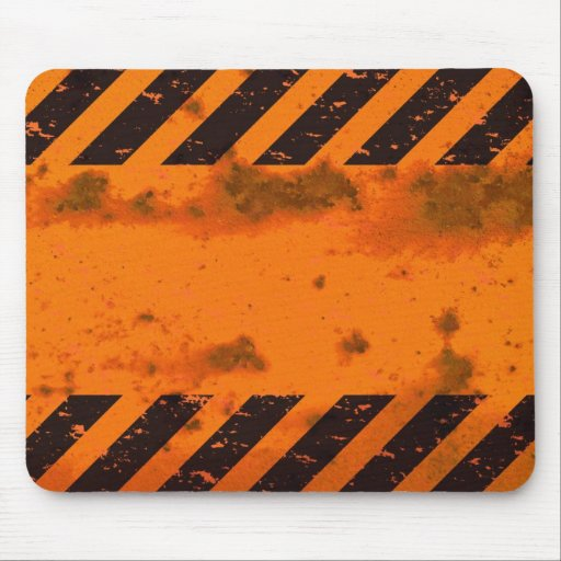 Rusted Hazard Stripes Background Mouse Pad