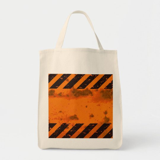 Rusted Hazard Stripes Background Tote Bag