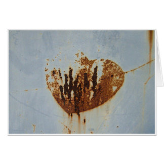 Rusted Heart Card