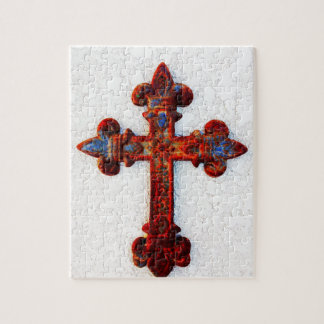 Rusted Iron Cross Christian Gifts Jigsaw Puzzle