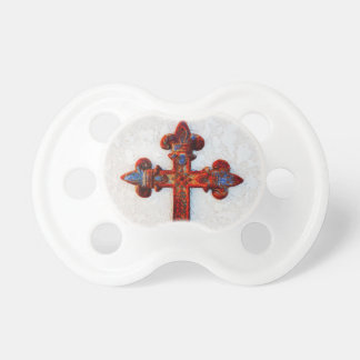 Rusted Iron Cross Christian Gifts Pacifiers