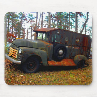 Rusted Junkyard Old Armored Truck Mouse Pad