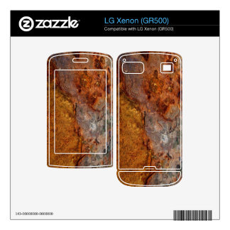 Rusted LG Xenon (GR500) skin Decals For LG Xenon