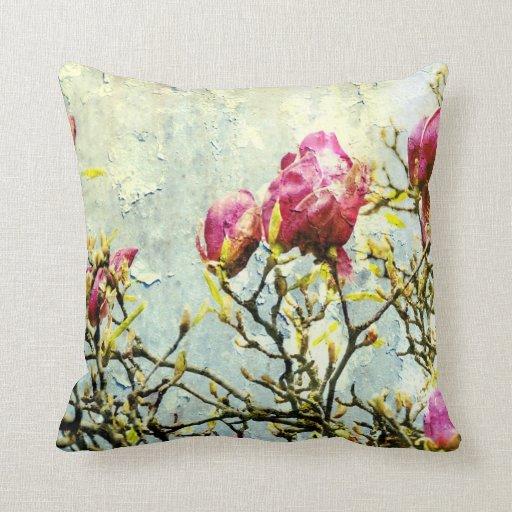 Rusted Magnolia Throw Pillow Zazzle