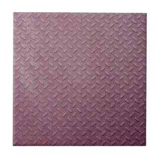 Rusted Mauve Sheet Metal Art Tile
