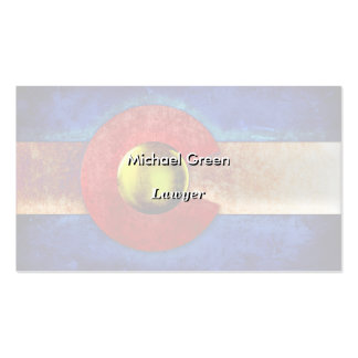Rusted Metal Colorado Flag Business Card