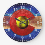 Rusted Metal Colorado Flag Clocks