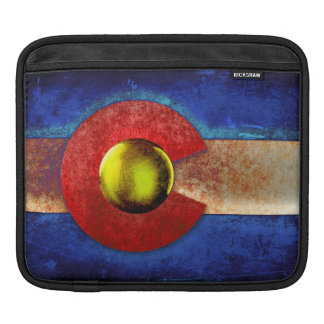Rusted Metal Colorado Flag iPad Sleeve