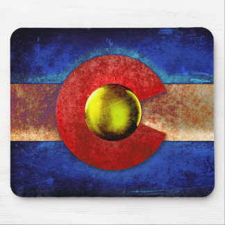 Rusted Metal Colorado Flag Mouse Pad