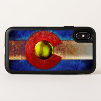 Rusted Metal Colorado Flag OtterBox Symmetry iPhone X Case