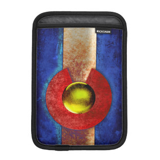 Rusted Metal Colorado Flag Sleeve For iPad Mini