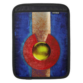Rusted Metal Colorado Flag Sleeve For iPads