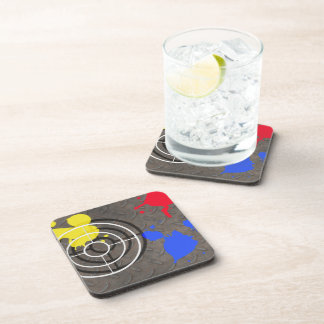 Rusted Metal Grate with Gunsight Beverage Coaster